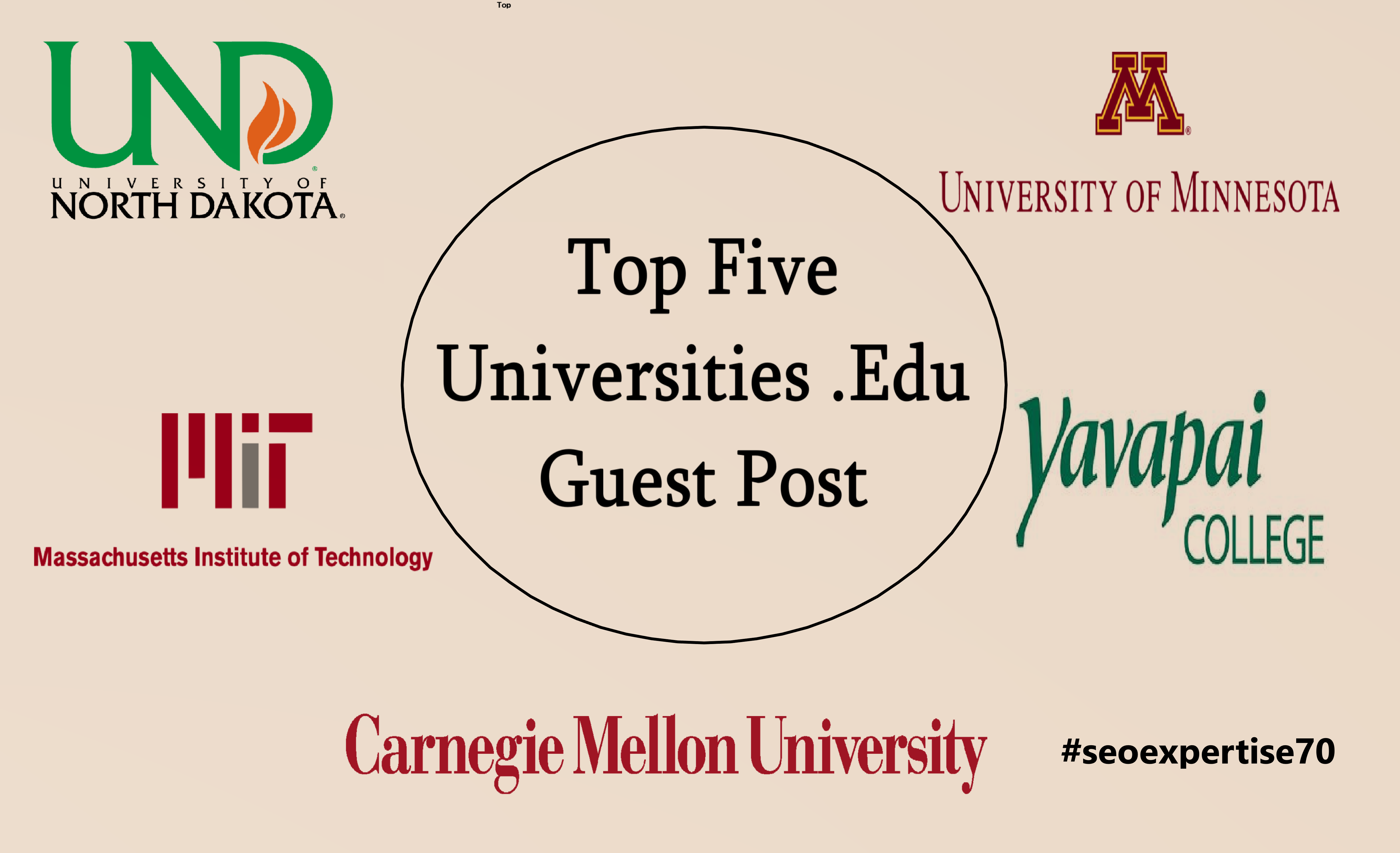 I will Provide Guest Post on Top 5 Education University websites