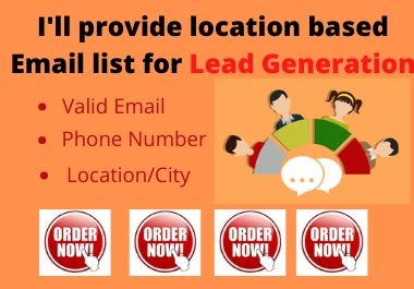 I will provide 100 b2b lead generation and targeted email list