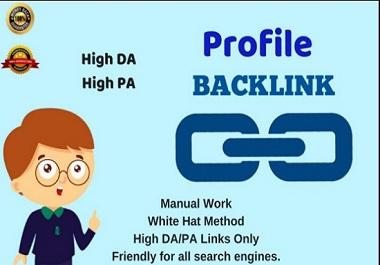 I will do 200 manually high authority profile backlinks For google ranking