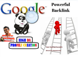 I will create manually 200 high DA profile backlinks For your website
