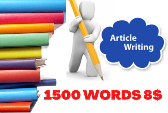 Get High-Quality 1500 Words SEO Optimized Unique Blog Writing,  Article Writing and Web Writing