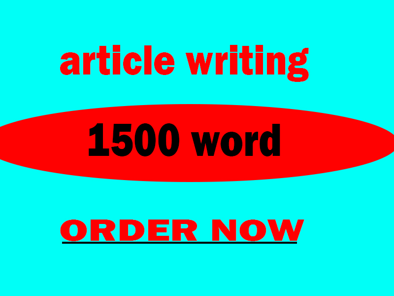 write a 1500 words article on any topic
