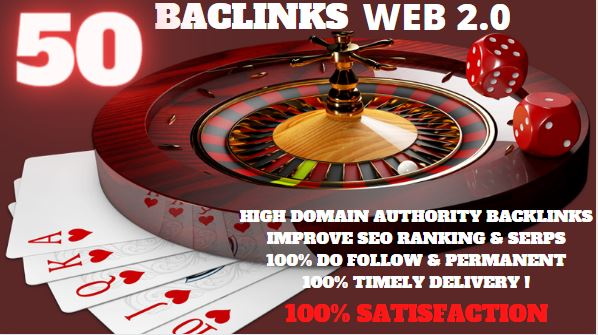 50 PBN & WEB 2.0 Backlink with Permanent Do follow & High DA PA TF CF