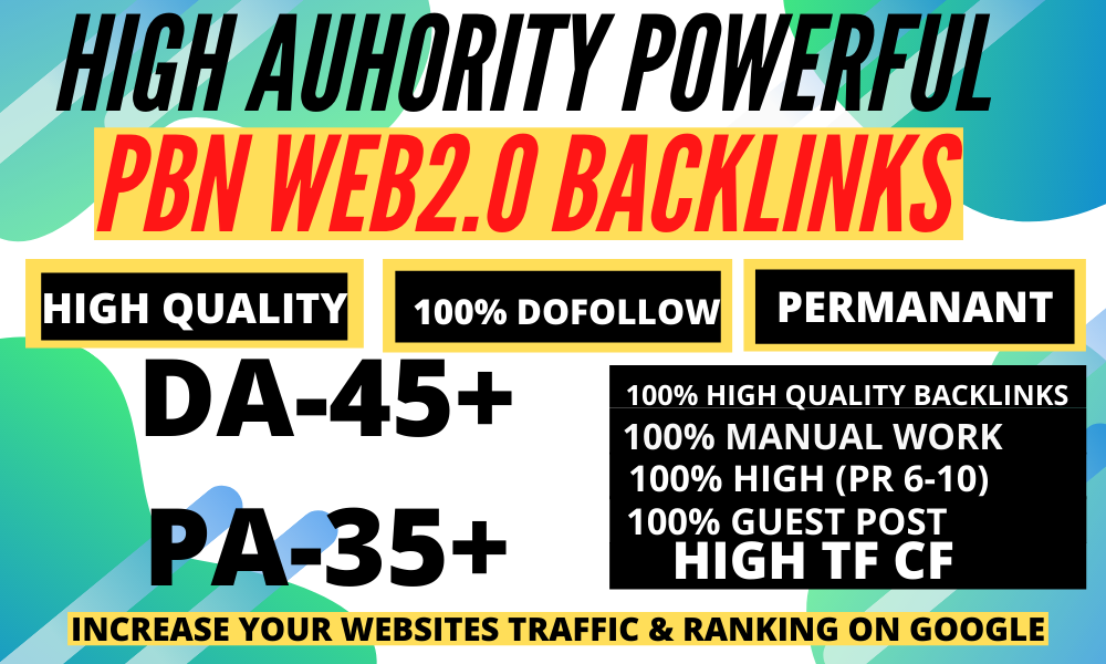 1500 Affordable Permanent Do follow High Quality Backlinks Service with High DA PA
