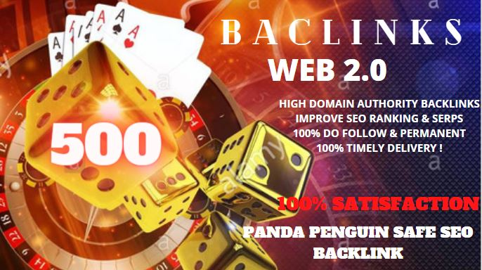 500+ Backlink with High DA/PA/TF/CF On your homepage with unique website link