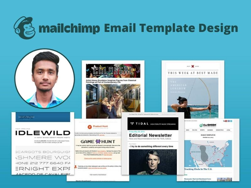I will do responsive mailchimp email template newsletter