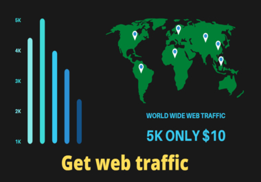 I will increase your website revenue through web traffic only 7 days
