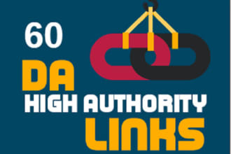i will crate60 da high authority profile backlinks.