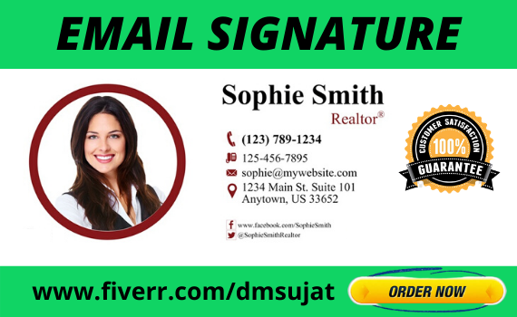 I will Do HTML Email Signature with Clickable Social Icons