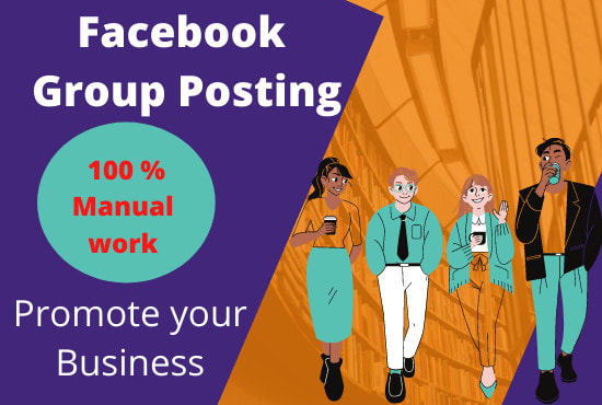 I will do facebook post in promote your Business 2 million of peoples