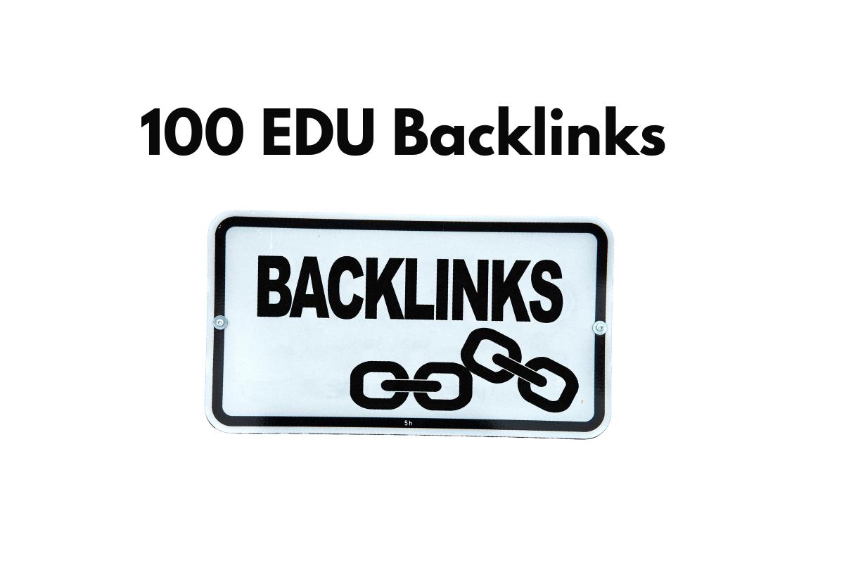 I will create 100 edu backlinks for high rank on google
