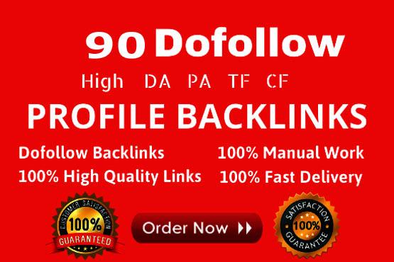 Create Manually 50 pr9 da 90 Dofollow Profile Backlinks
