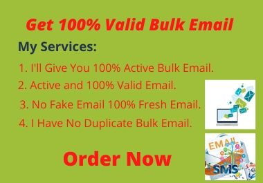 Get Valid Bulk Email Collection