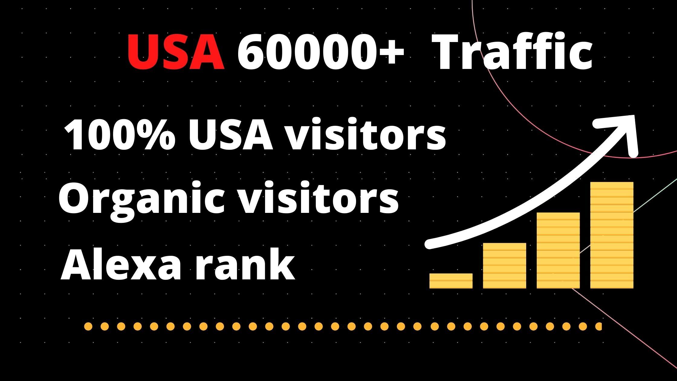 Drive Keyword target 6000+ USA Organic visitors for your website/Blog