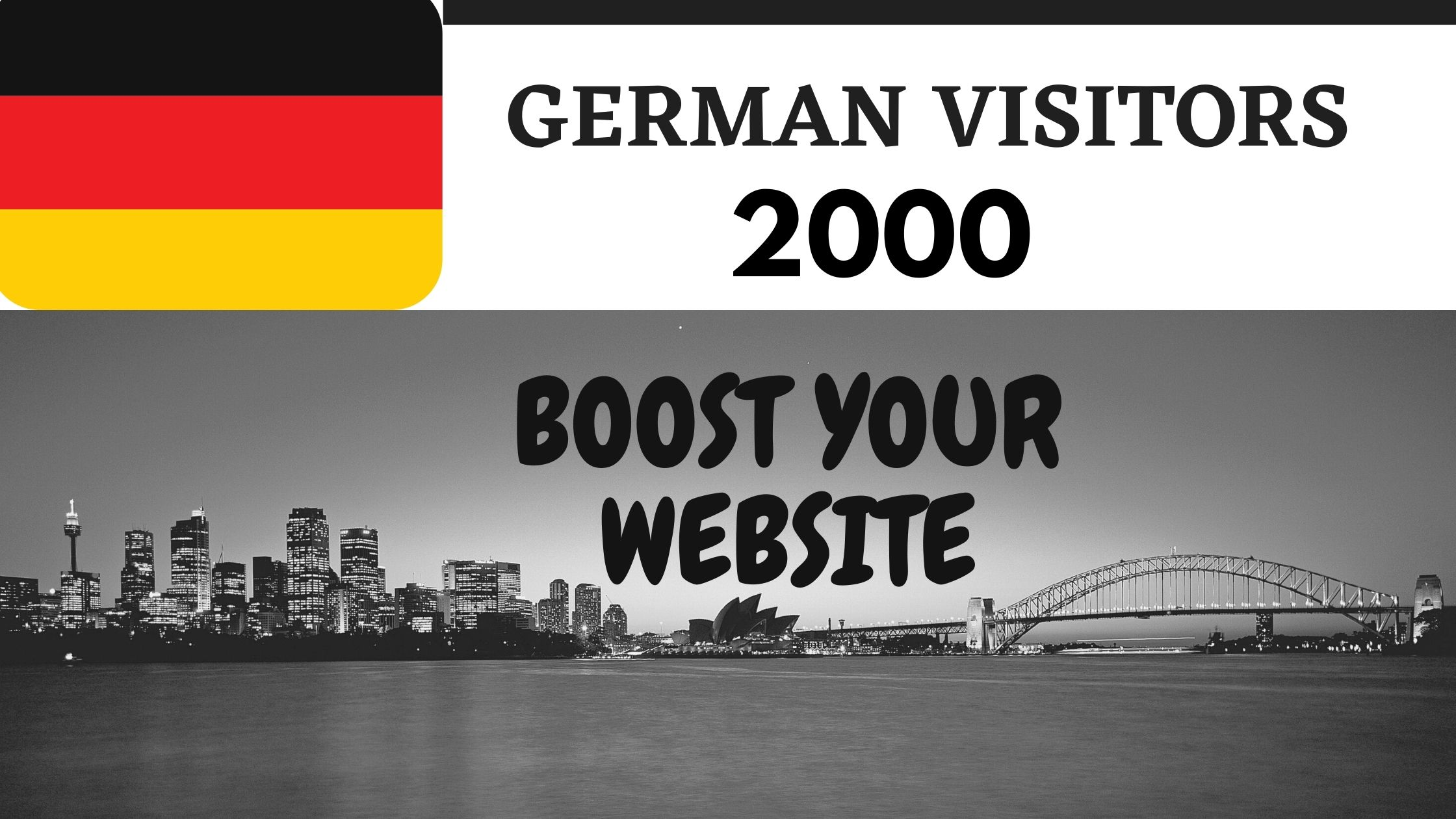 Drive 2000 german web traffic for your website