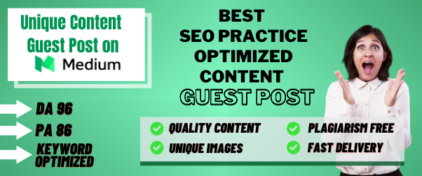 Get 500 word unique content and High DA PA Guest post on medium. com