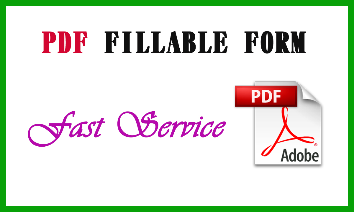 I will create best PDF fillable form