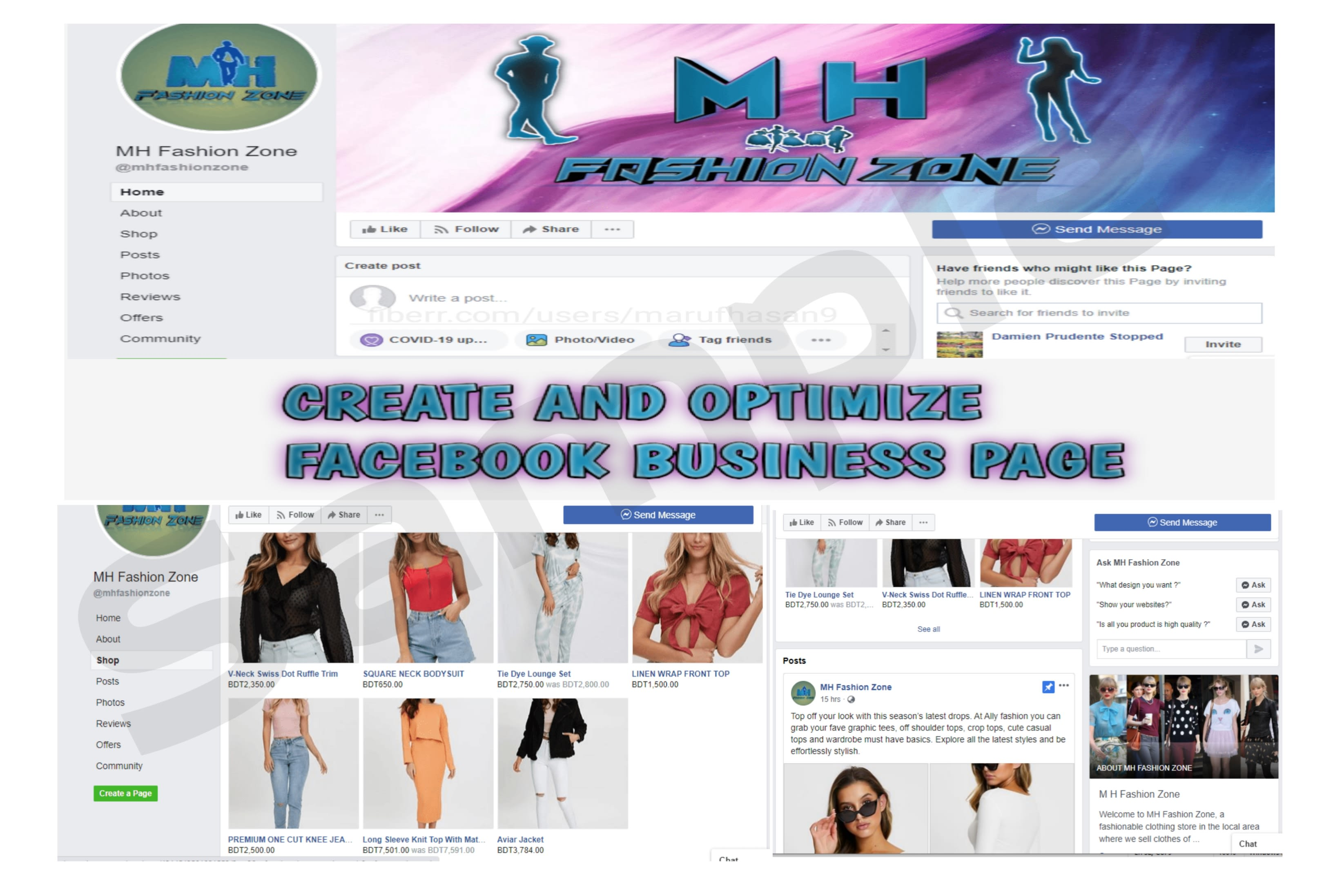 I will create and optimize professionally facebook business page