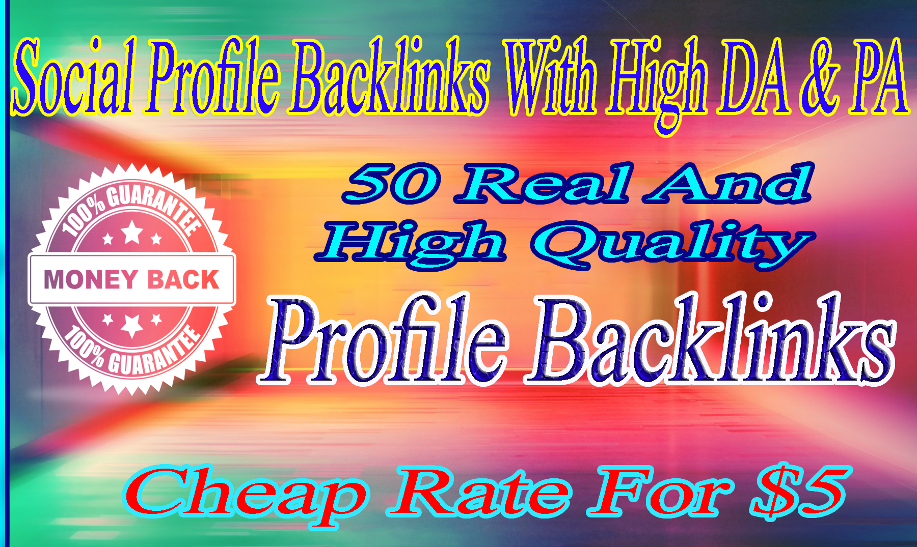 add 50 social profile backlinks with high DA & PA at a cheap rate for