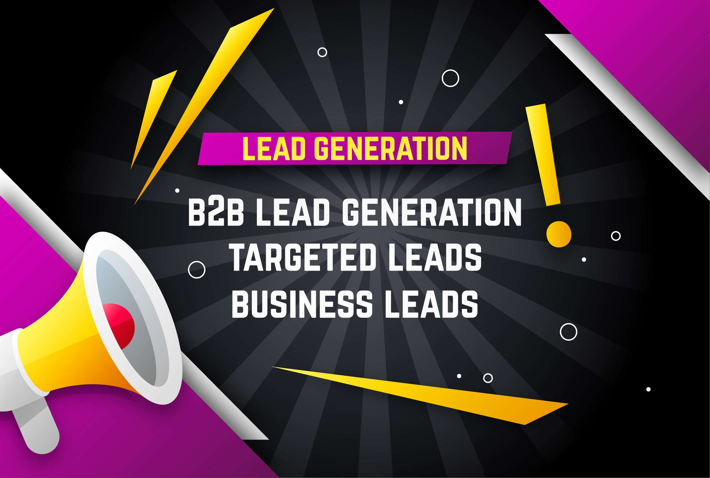I will provide B2B lead generation and web research
