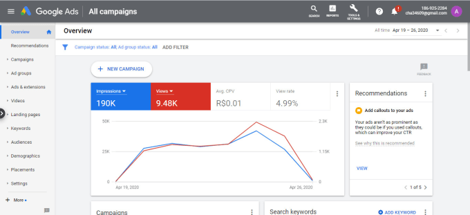 I will Setup 200$ Threshold in Google Adwords Campaign