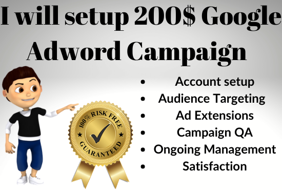 I will Setup 200 Threshold in Google Adwords Campaign