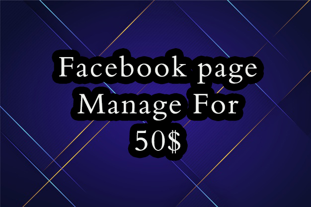 Facebook Page manage and content creator