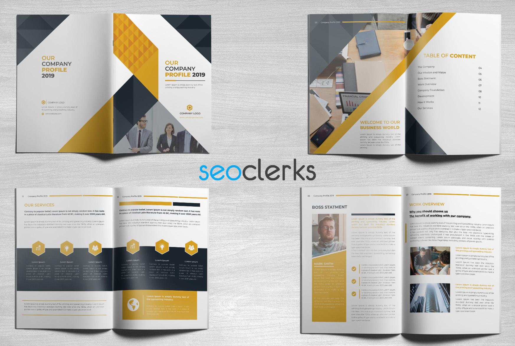 I will design business brochure,  company profile,  brochure,  proposal or annual report