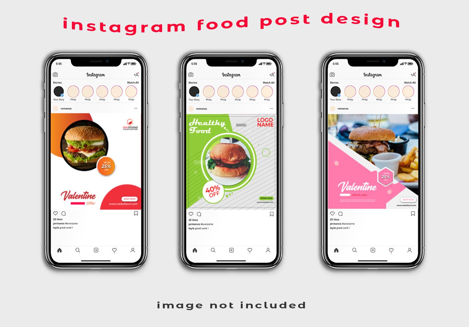 I will design professional Instagram food post design