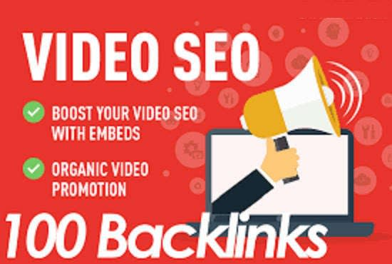 Do 100 high quality backlinks for youtube video SEO service