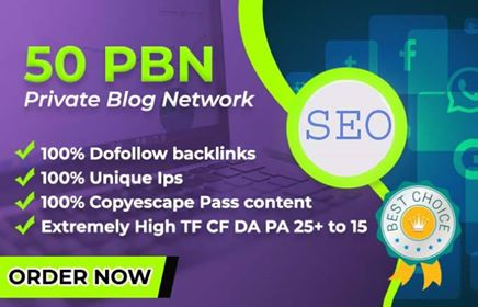 50 pbn high metrics powerful homepage links contextual backlinks for ranking