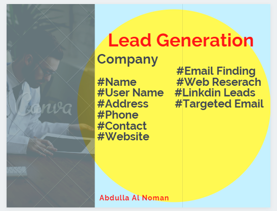 I will be 1000 b2b Lead Generation and Targeted Email