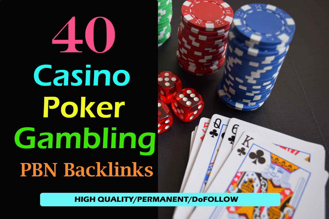 Build 40 permanent DA 58-38+ PBN Backlinks Casino,  Gambling,  Poker,  Judi Related Websites