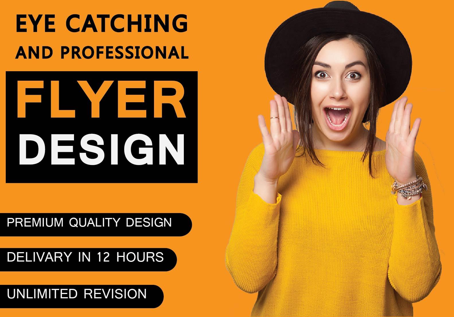 I will design flyer, poster or resturant menu