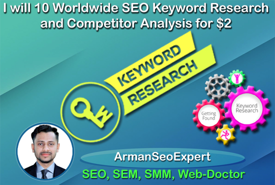 I will 10 Worldwide SEO Keyword Research and Competitor Analysis