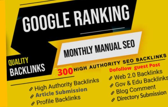 i will Create high quality dofollow SEO backlinks link building google top ranking