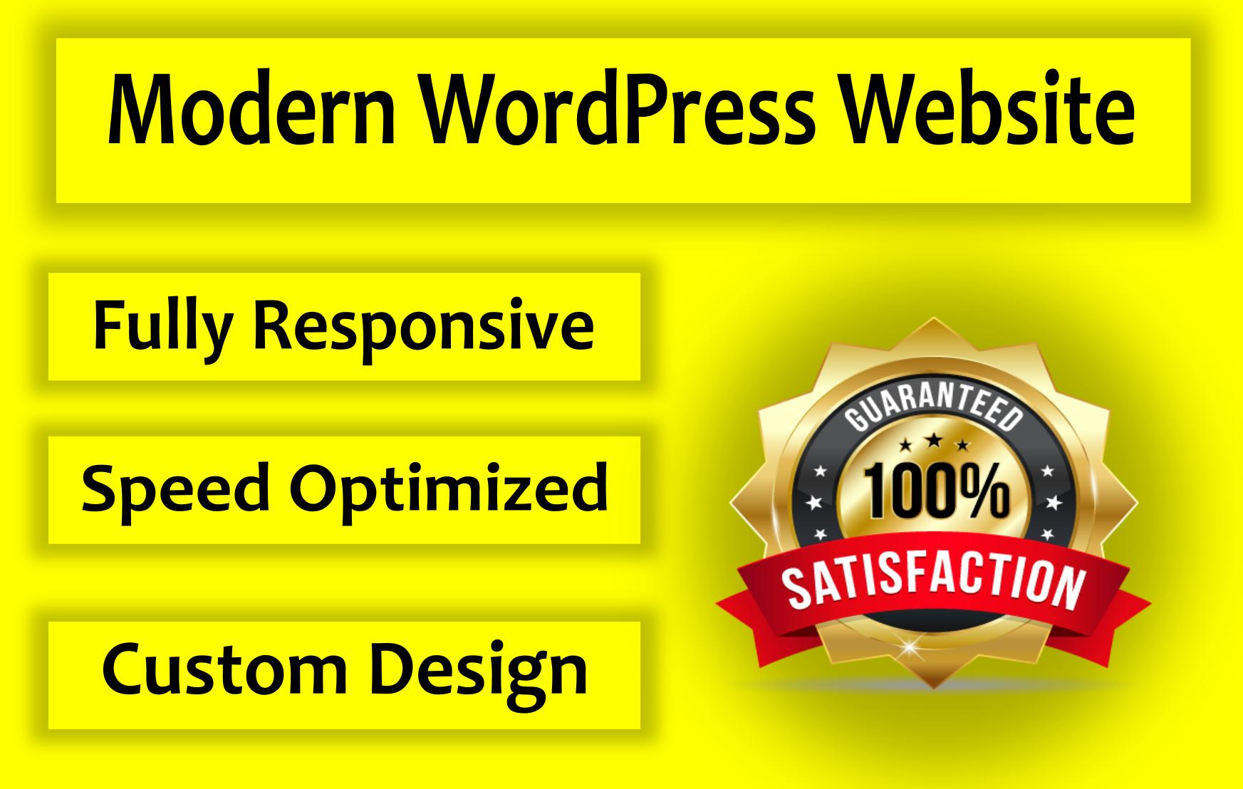 I will design a modern WordPress website