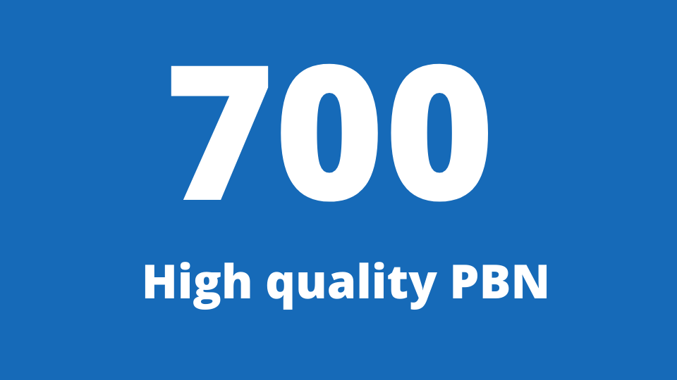 Get 700 web 2.0 PBN from unique 700 domain