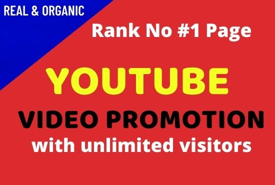 Youtube Video Promotion with Good SEO Marketing