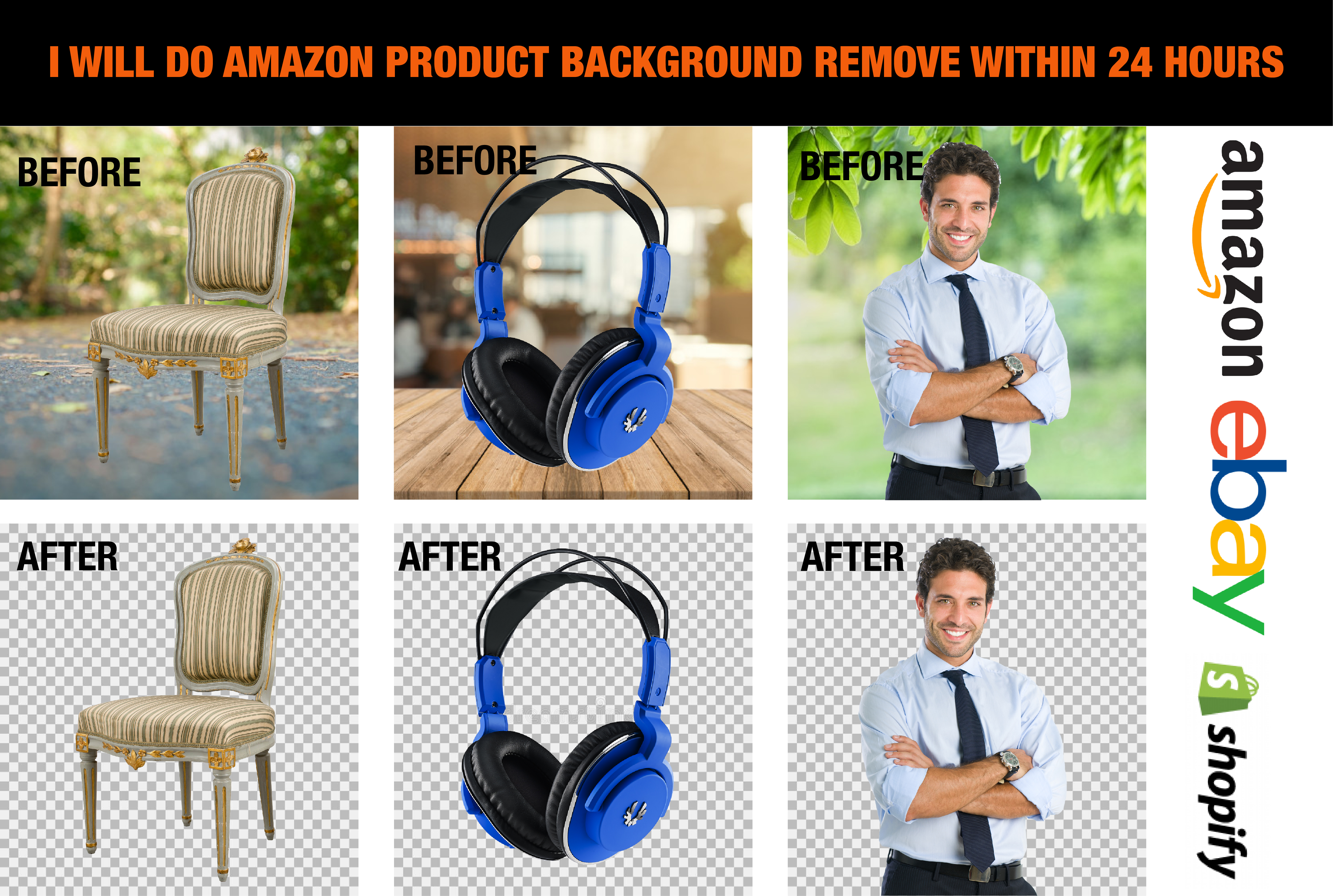 I will do background removal, cutout,  product editing with 12 hours