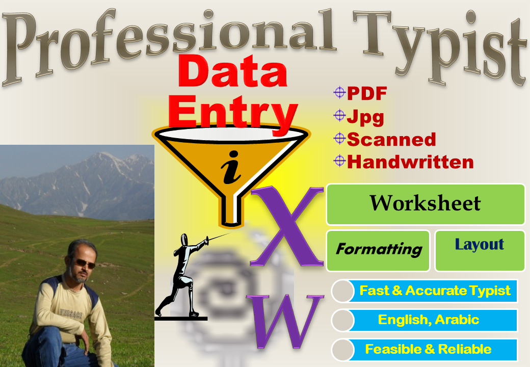 I will Convert PDF/Scanned/Handwritten Data to MS Word/Excel