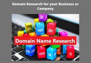 I will do domain Name research for your business or Company
