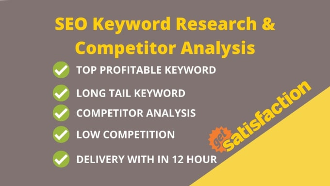I will do Depth SEO keyword Research for targeted niche.