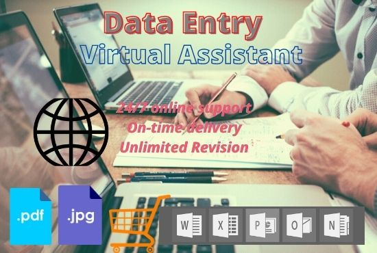 Any Kind of Data Entry Work and VA Service