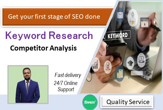Deep SEO Keyword Research for your Niche or Website and Competitor Analysis