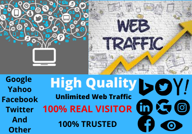 I Will Provide Unlimited Real Human Traffic By Google And Other Social Media