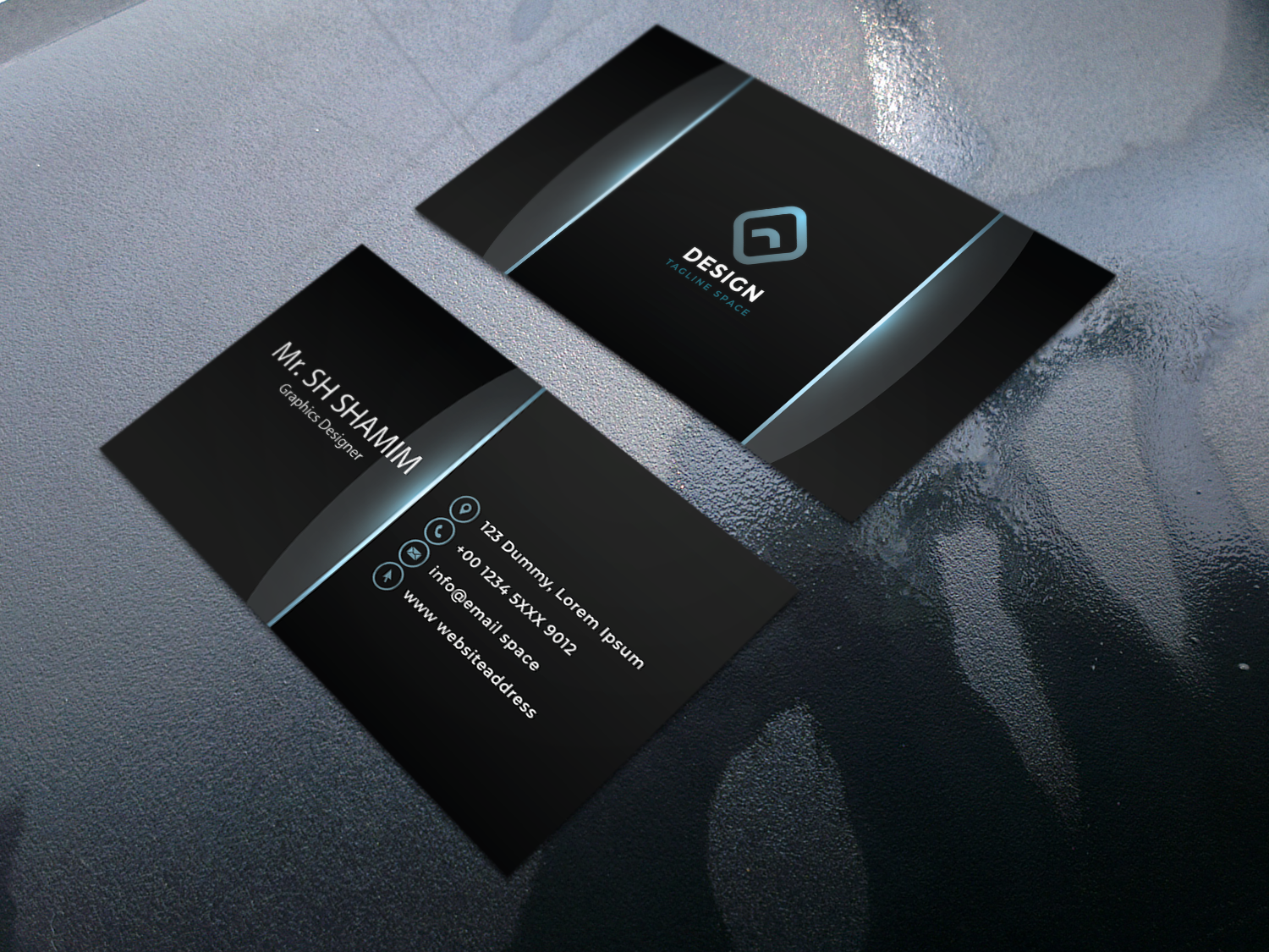 I will create minimal business card design,  luxury business card design, stander business card design