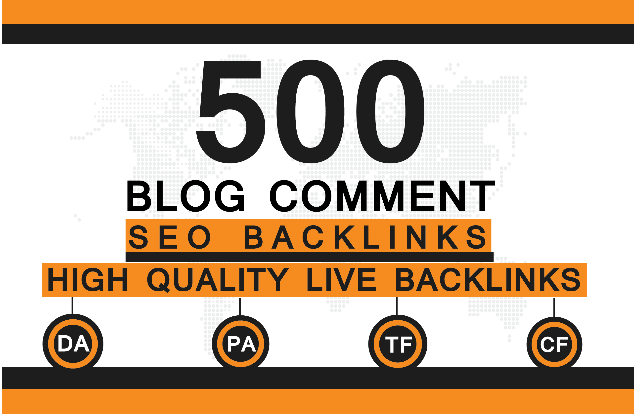 i Will Creat 500 Blog Comments With High DA and PA Low.
