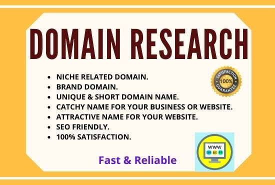 I will find appropriate domain name for your brands and website