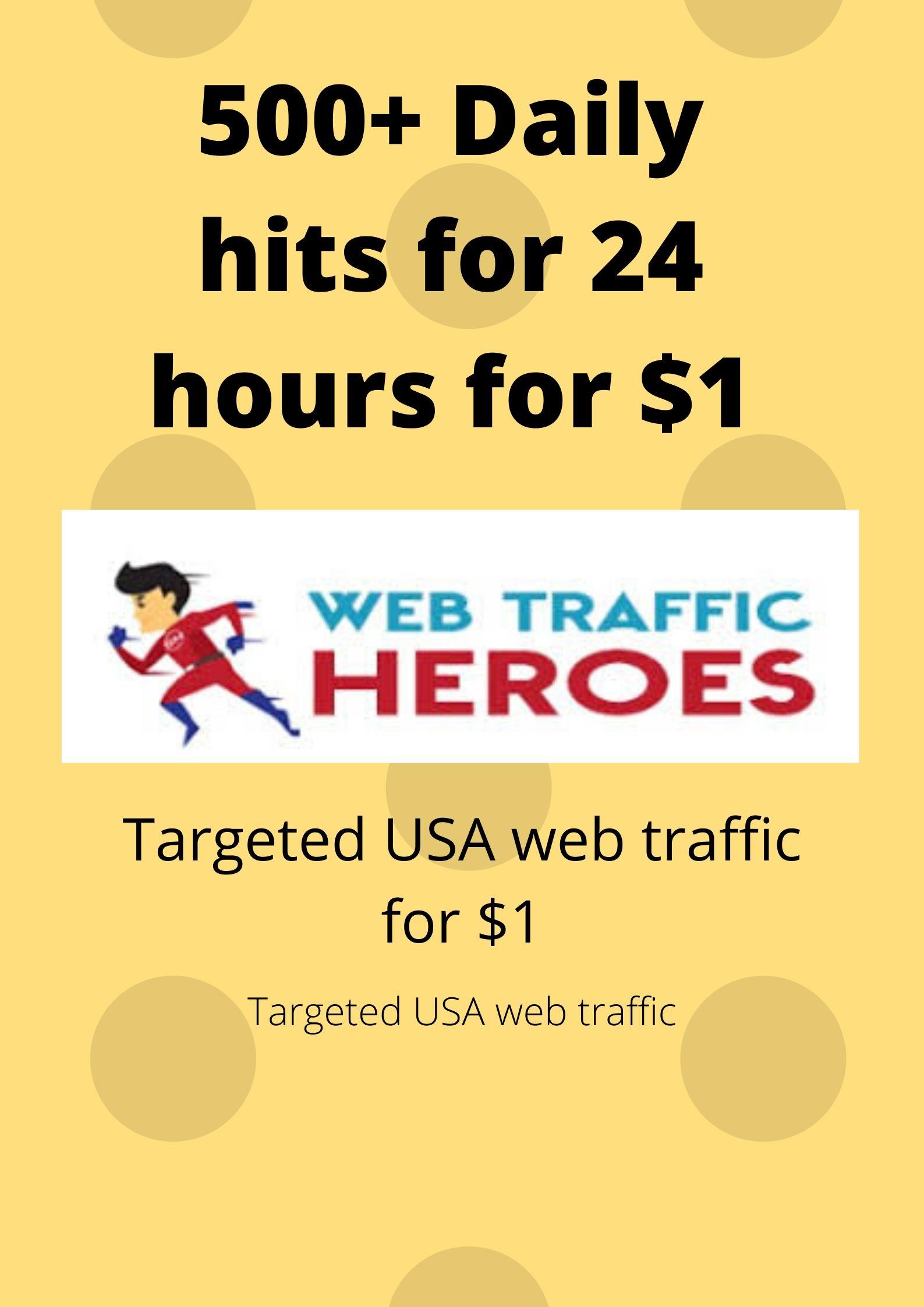 I will bring real visitors, targeted web traffic-web hero